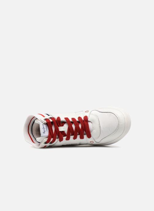 Sneaker Pepe jeans Brompton weiß ansicht von links