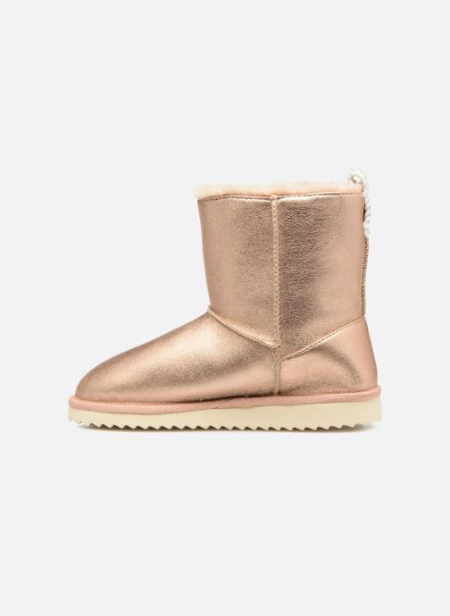 Bottes Pepe jeans Angel Teeth Or et bronze vue face