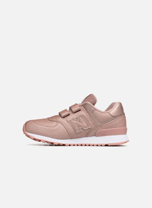Baskets New Balance YV574 Rose vue face