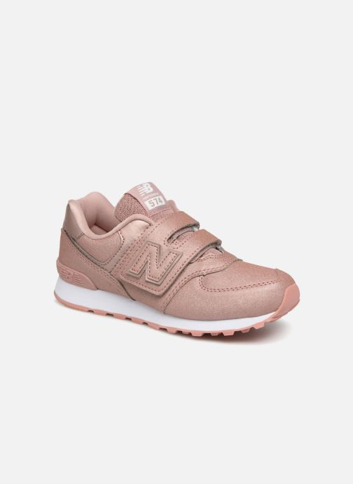 Baskets New Balance YV574 Rose vue détail/paire