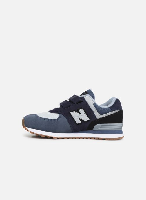 Baskets New Balance YV574 Bleu vue face
