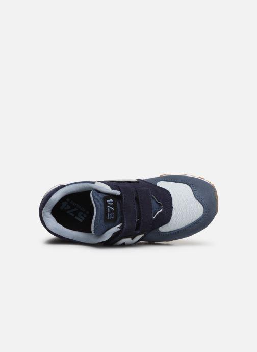 Sneaker New Balance YV574 blau ansicht von links
