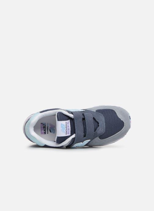 Sneaker New Balance YV574 grau ansicht von links
