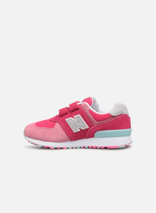 Sneaker New Balance YV574 rosa ansicht von vorne