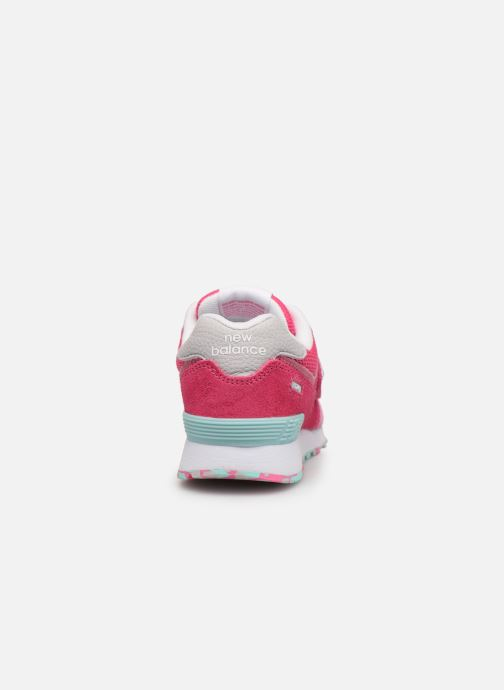 Trainers New Balance YV574 Pink view from the right