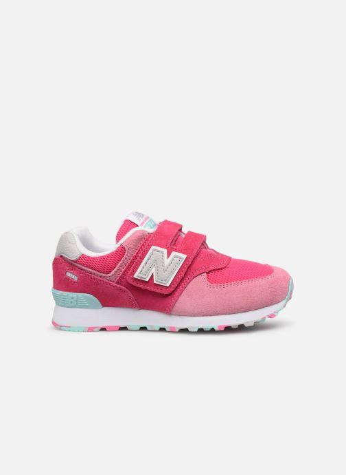Sneaker New Balance YV574 rosa ansicht von hinten