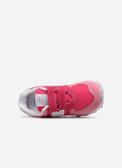 Sneaker New Balance YV574 rosa ansicht von links