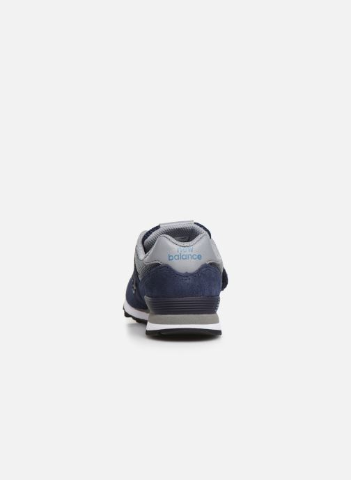 Trainers New Balance YV574 Blue view from the right