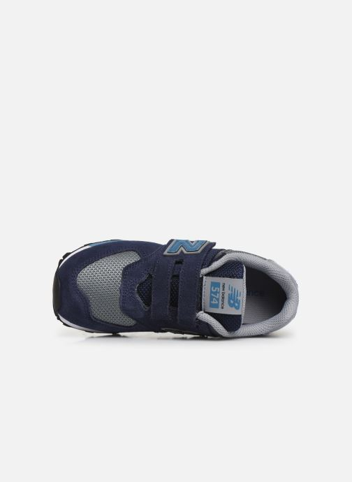 Trainers New Balance YV574 Blue view from the left