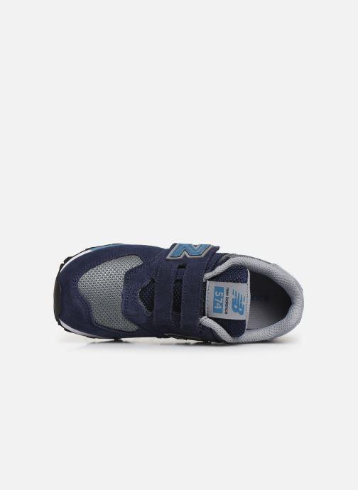 Baskets New Balance YV574 Bleu vue gauche