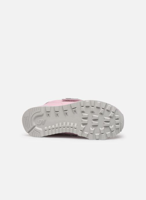 Sneaker New Balance YV574 rosa ansicht von oben