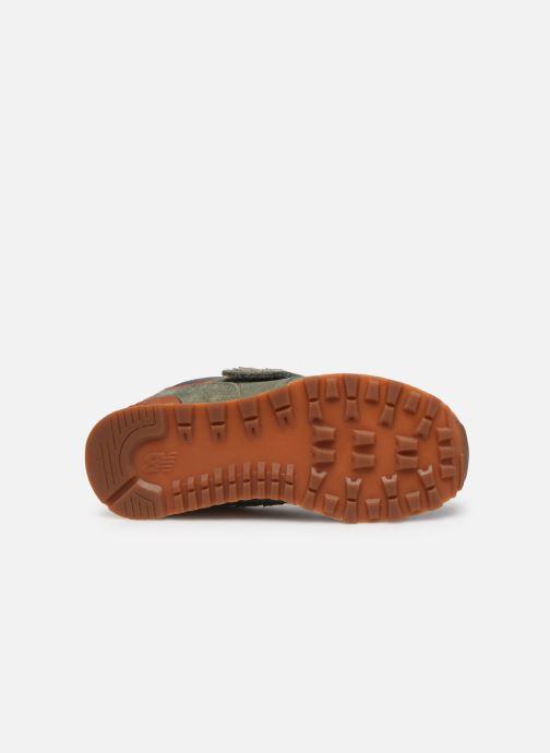 Sneaker New Balance YV574 grün ansicht von oben