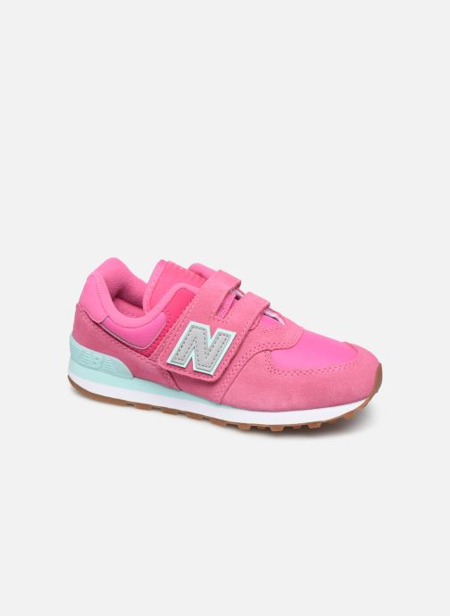 Trainers New Balance YV574 Pink detailed view/ Pair view