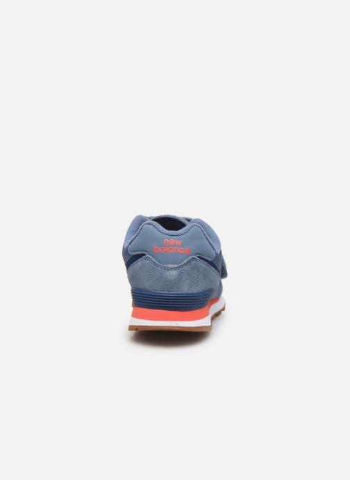 Sneakers New Balance YV574 Blå Se fra højre