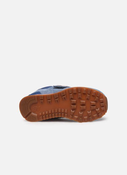 Sneaker New Balance YV574 blau ansicht von oben