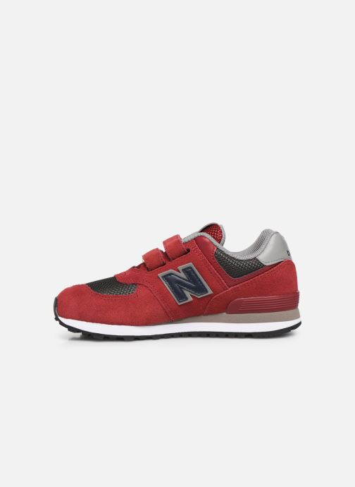 Trainers New Balance YV574 Red front view