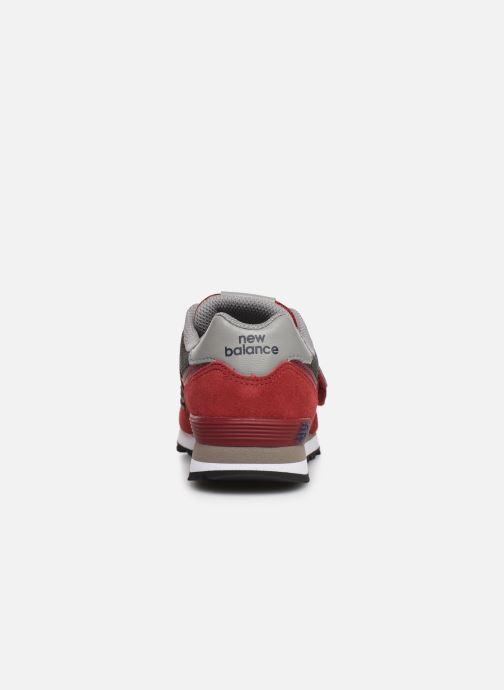Sneaker New Balance YV574 rot ansicht von rechts