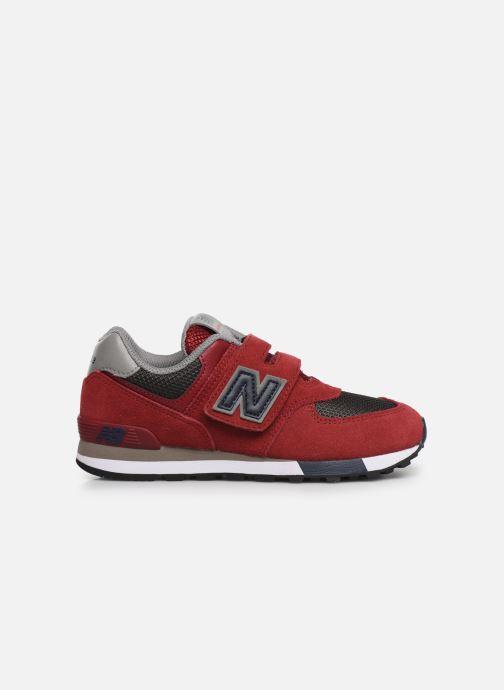 Sneaker New Balance YV574 rot ansicht von hinten