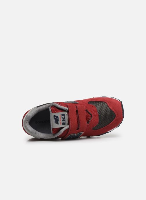 Trainers New Balance YV574 Red view from the left
