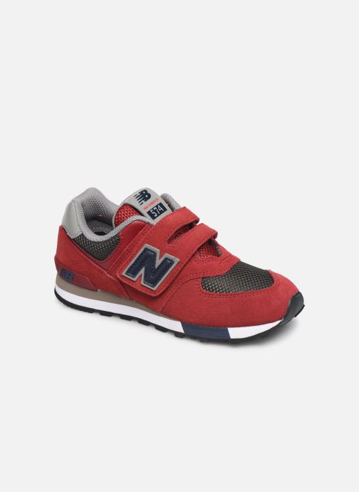 Baskets New Balance YV574 Rouge vue détail/paire