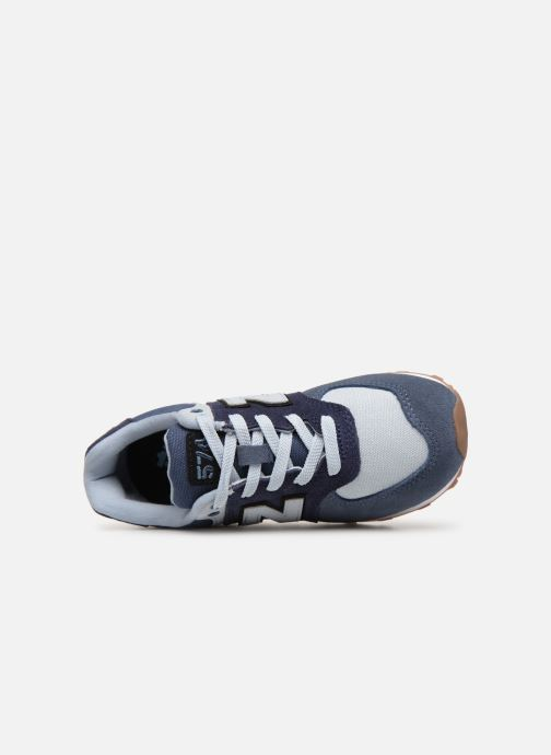 Trainers New Balance PC574 Blue view from the left