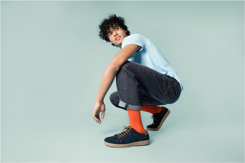 Sneaker I Love Shoes KEPHANE Leather blau ansicht von unten / tasche getragen