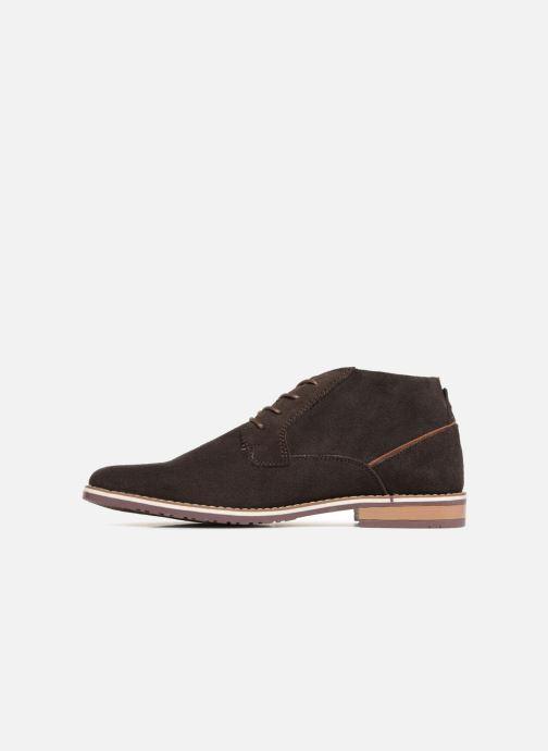 Boots en enkellaarsjes I Love Shoes KERONI Leather Bruin voorkant