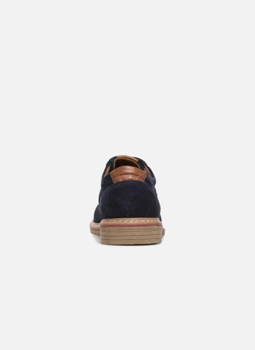 Zapatos con cordones I Love Shoes KEMOUNT Leather Azul vista lateral derecha