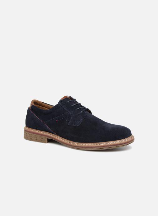 Snøresko I Love Shoes KEMOUNT Leather Blå detaljeret billede af skoene