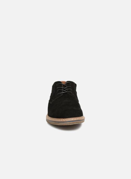 Schnürschuhe I Love Shoes KEMOUNT Leather schwarz schuhe getragen
