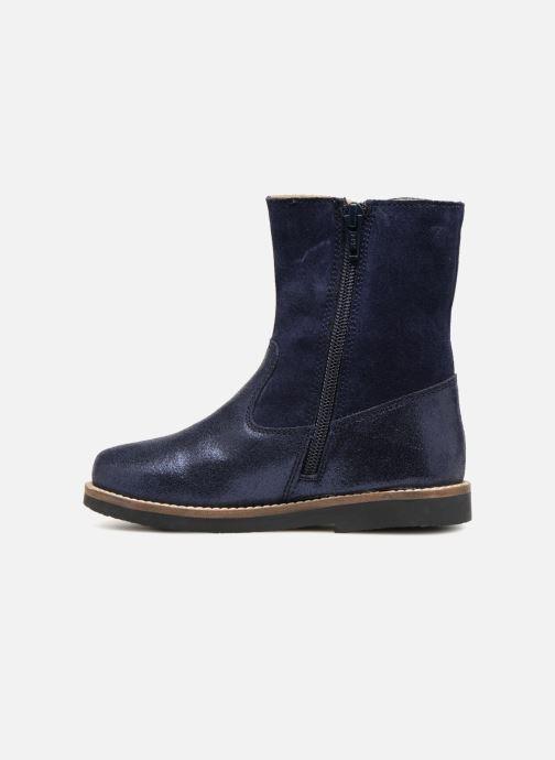 Bottes I Love Shoes SELMIE Leather Fourrée Bleu vue face