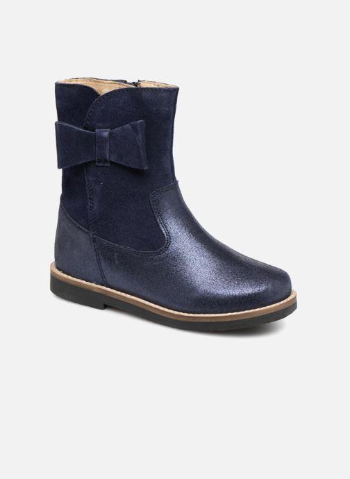 Bottes I Love Shoes SELMIE Leather Fourrée Bleu vue détail/paire
