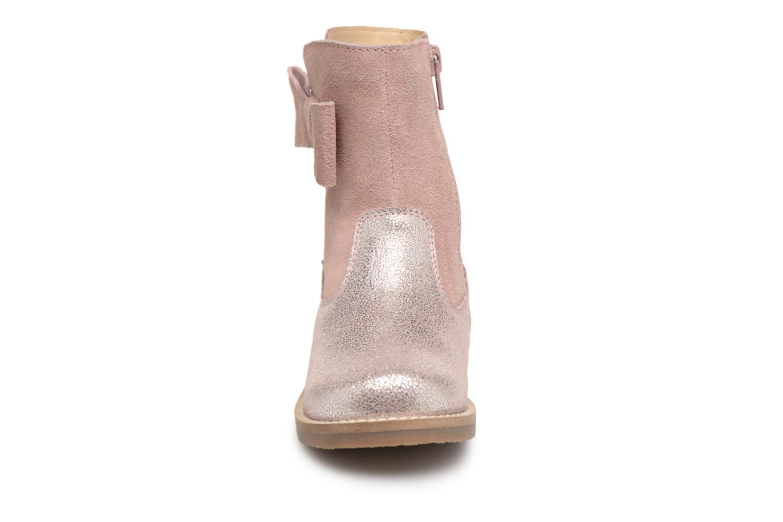 Bottes I Love Shoes SELMIE Leather Fourrée Rose vue portées chaussures