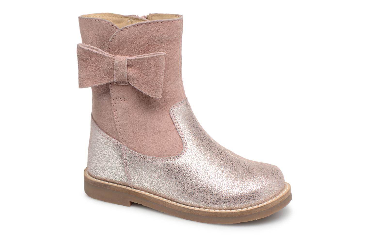 Bottes I Love Shoes SELMIE Leather Fourrée Rose vue détail/paire