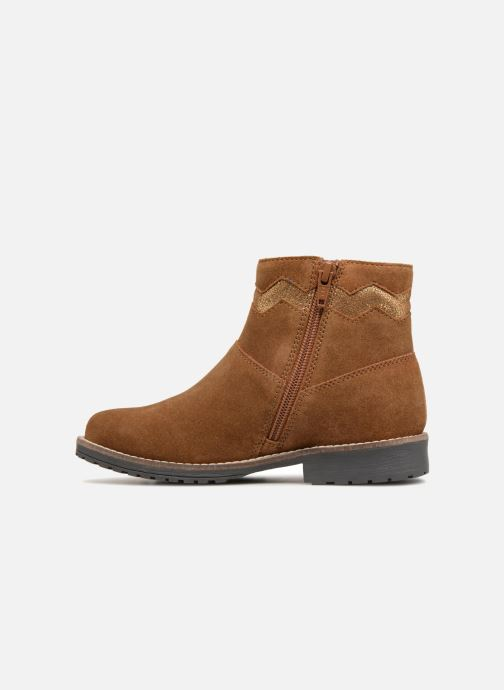 Boots en enkellaarsjes I Love Shoes KEZIG Leather Bruin voorkant