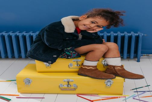 Botines  I Love Shoes KEZIG Leather Azul vista de abajo