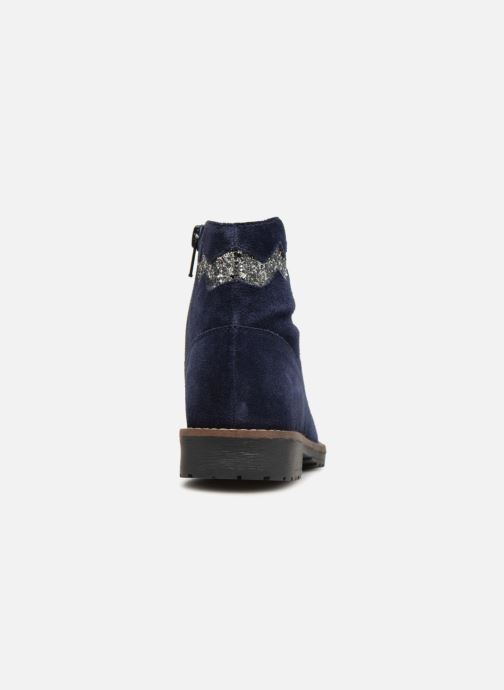 Botines  I Love Shoes KEZIG Leather Azul vista lateral derecha