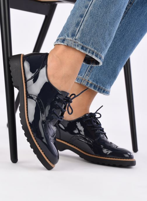 Chaussures à lacets I Love Shoes Gonely Bleu vue bas / vue portée sac