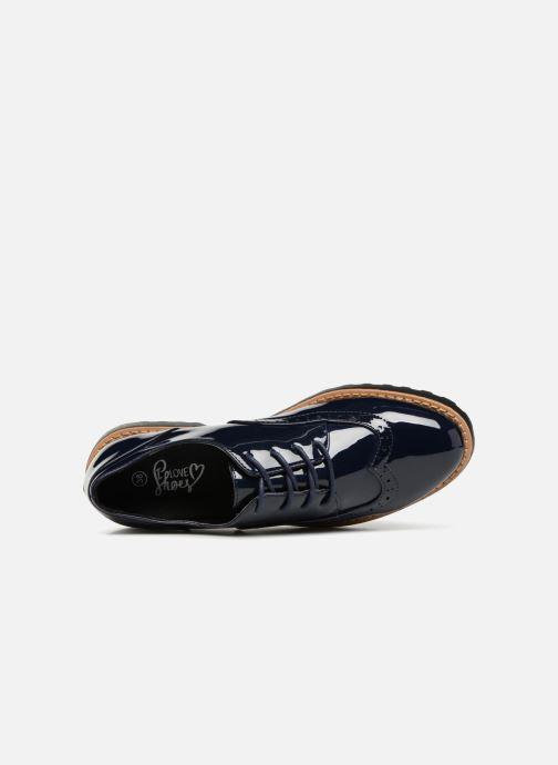 Schnürschuhe I Love Shoes Gonely blau ansicht von links