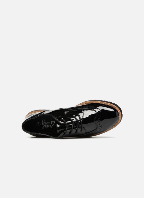 Schnürschuhe I Love Shoes Gonely schwarz ansicht von links