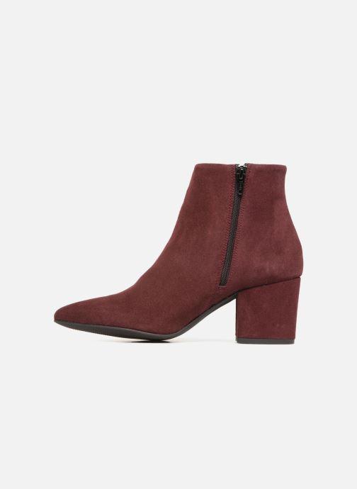 Boots en enkellaarsjes Vero Moda VMASTRID LEATHER BOOT Bordeaux voorkant