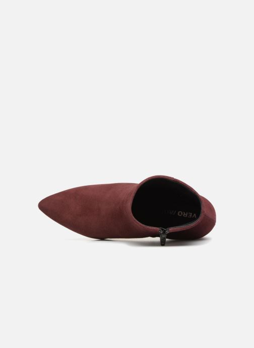 Bottines et boots Vero Moda VMASTRID LEATHER BOOT Bordeaux vue gauche