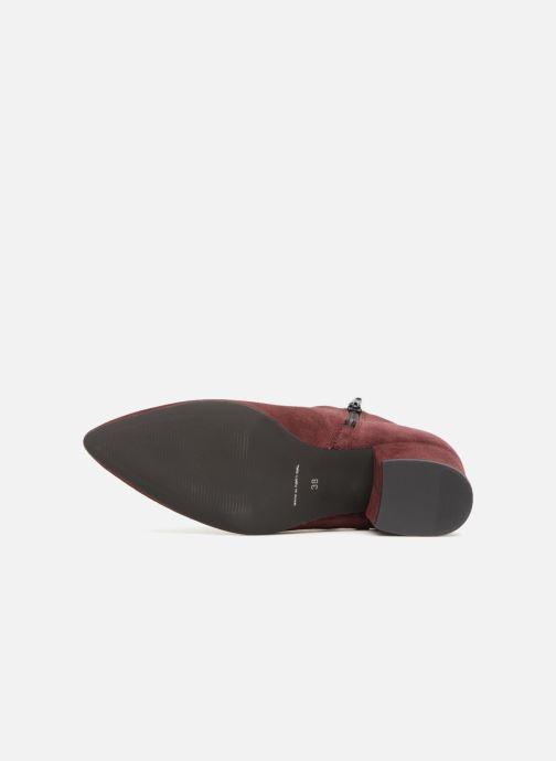 Bottines et boots Vero Moda VMASTRID LEATHER BOOT Bordeaux vue haut