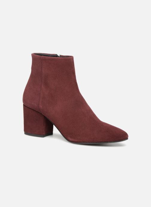 Bottines et boots Vero Moda VMASTRID LEATHER BOOT Bordeaux vue détail/paire
