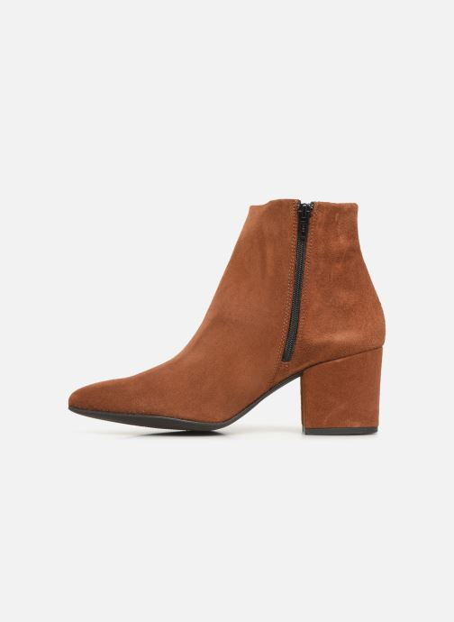 Bottines et boots Vero Moda VMASTRID LEATHER BOOT Marron vue face