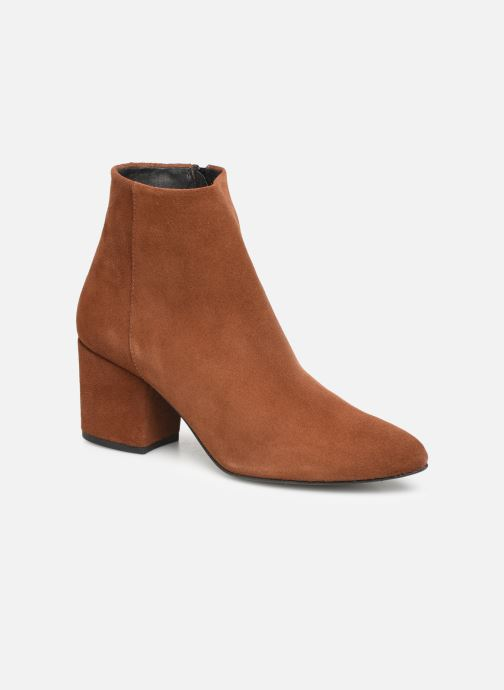 Bottines et boots Vero Moda VMASTRID LEATHER BOOT Marron vue détail/paire