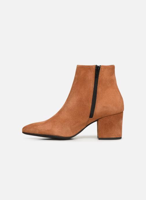 Boots en enkellaarsjes Vero Moda VMASTRID LEATHER BOOT Bruin voorkant