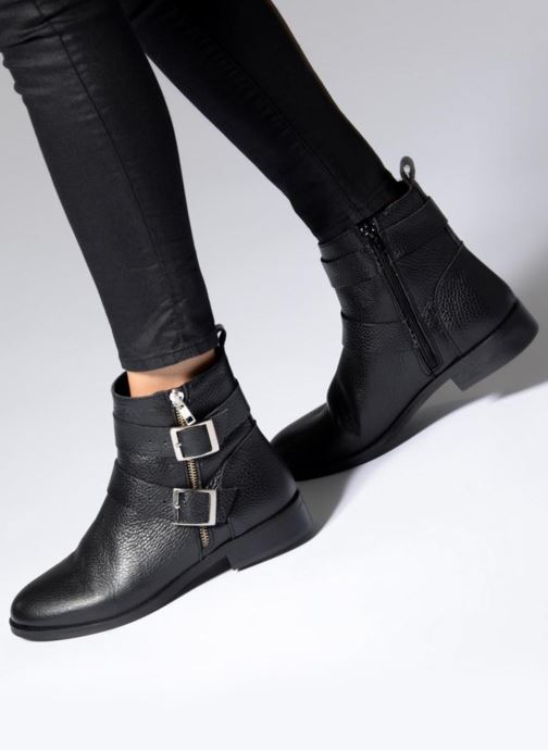 Bottines et boots Vero Moda VMSINO LEATHER BOOT Noir vue bas / vue portée sac