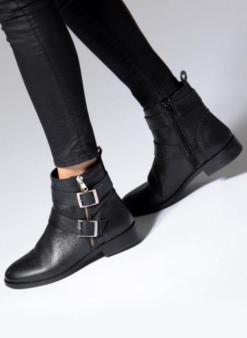 Boots en enkellaarsjes Vero Moda VMSINO LEATHER BOOT Zwart onder