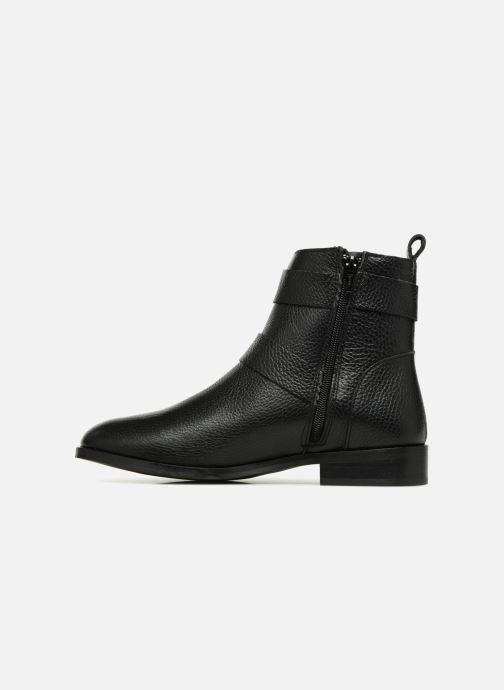 Boots en enkellaarsjes Vero Moda VMSINO LEATHER BOOT Zwart voorkant